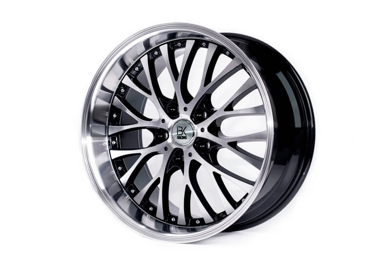 "BK Racing BK861 Black & Polished 18"" 5x120 Alloy Wheels x4"