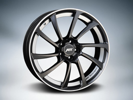 "ABT VW T5 T6 8.5x19"" Black Metal With Polished Lip Wheel Package"