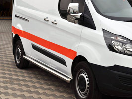 Vanstyle MAXX 76mm Stainless Steel Side Bars Ford Transit Custom