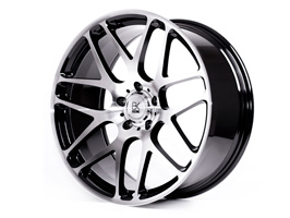 "BK Racing BK170 20"" Black & Polished VW T5 T6 Alloy Wheels"