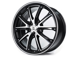 "BK Racing BK201 Gloss Black & Polished 18"" VW T5 T6 Alloy Wheels"