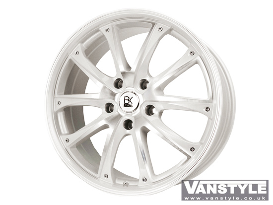 BK Racing BK201 Pearl White and Polished 18� VW T5