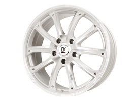 "BK Racing BK201 Pearl White and Polished 18"" VW T5 5x120"