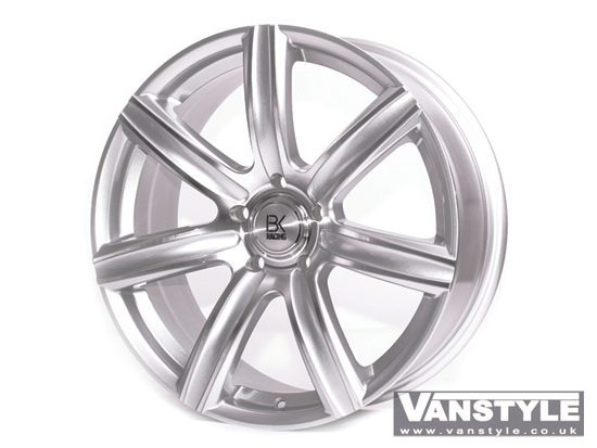 "BK Racing BK808 Hyper Silver and Polished 18"" VW T5"