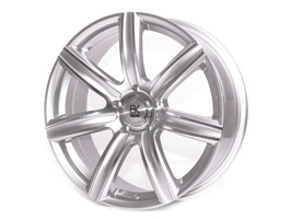 "BK Racing BK808 Silver & Polished 18"" VW T5 T6 Alloy Wheels"