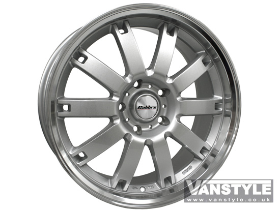 "Calibre Boulevard Hyper Silver and Polished Rim 8x18"" VW T5 5x120"