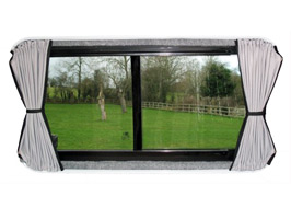 VW T5 Tailored Curtain Set - SWB Tailgate Full Window Set