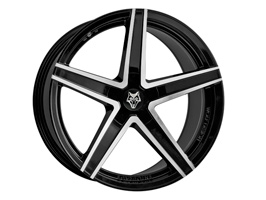 "Wolfrace Entourage Black-Polished 20"" Wheel Package VW T5"