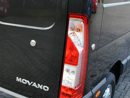 Stainless Steel 4 Piece Plug Covers - Master & Movano 2010>