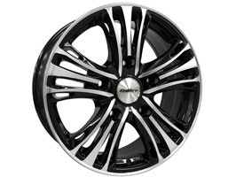 "Calibre Odyssey 18"" Black & Polished Transit Custom Alloy Wheels"