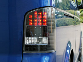 VW T5 LED Rear Lamp Set Black or Smoked Tailgate Only