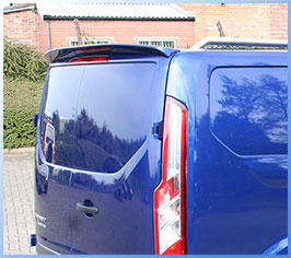 Spoiler Rear Twin Door Ford Transit Custom 2012> High Quality