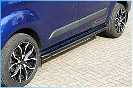 Ford Transit Custom Black Sportline Style Side Bar Set 2012>