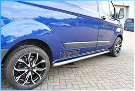 Ford Transit Custom Polished Sportline Style Side Bar Set 2012>