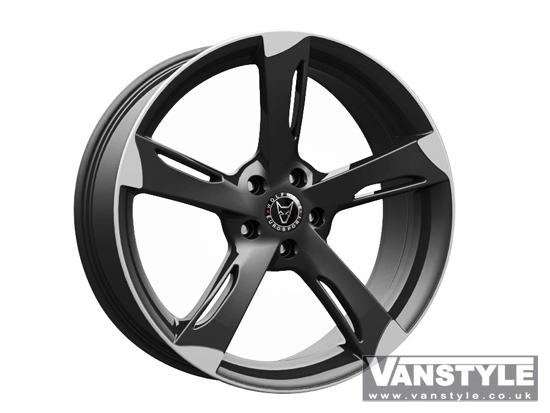 "Wolfrace Genesis Black Polished 8.5x18"" VW T5 5x120"