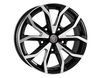Wolfrace Assassin TRS Black Polished 8x18