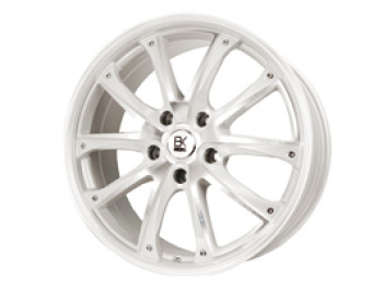 "BK Racing BK201 Pearl White & Polished 18"" VW T5 T6 Alloy Wheels"