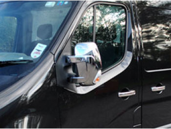 Chrome ABS Mirror Covers - Master / Movano / NV400 2010>