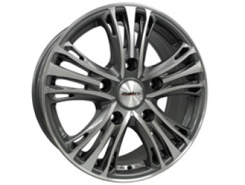 "Calibre Odyssey 18"" Gunmetal & Polished Custom Wheel & Tyre"