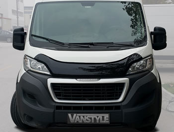 Relay, Ducato & Boxer 2014> Black Acrylic Bonnet Wind Deflector