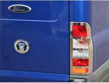 Rear Light Covers Stainless Steel Pair Ford TRANSIT 2000-on