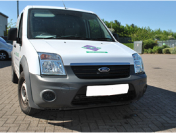 Ford Transit Connect 2010> Stainless Steel Bonnet Streamer