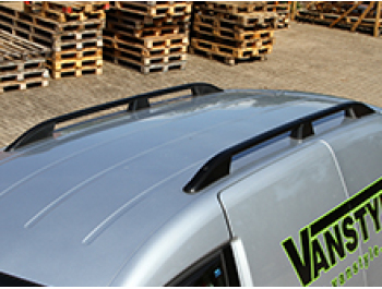 VW Caddy & Maxi Black Aluminium Roof Bars 04-15 & 15>