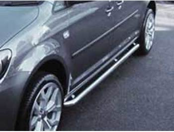 Sidebars 50mm Polished Stainless Steel VW Caddy Maxi LWB 04>