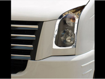 Stainless Steel Headlamp Covers, VW Crafter, 06-11
