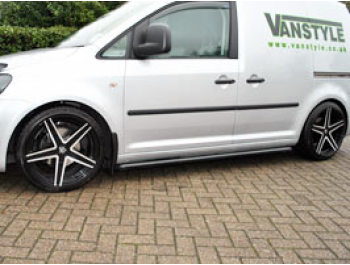 Vanstyle Sport 50mm Satin Black Sidebars VW Caddy SWB 04>