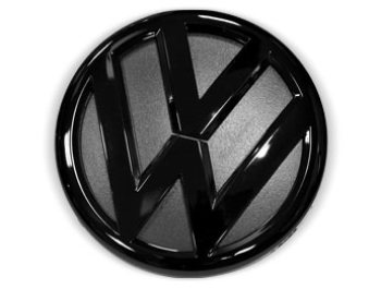 VW Replacement Rear Badge - Gloss Black Finish - 130mm