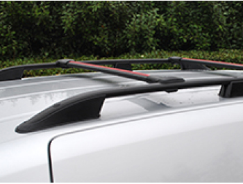 VW T5 & T6 LWB Black Roof Bars & Cross Bar Set