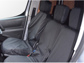 100% Waterproof Black Tailored Seat Covers Berlingo/Partner