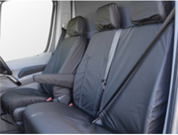 100% Waterproof Tailored Black Seat Covers Crafter / Sprinter