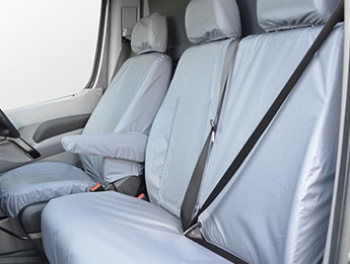 100% Waterproof Tailored Grey Seat Covers Crafter / Sprinter