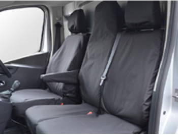 100% Waterproof Black Tailored Seat Covers Vivaro / Trafic 14>