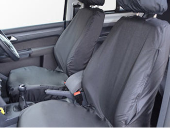 100% Waterproof Tailored Black Seat Covers Caddy x2 Singles 1-1