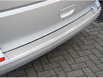 VW T6 Tailgate Brushed Rear Bumper Protector