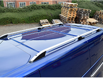 Ford Transit MK8 Aluminium Silver Roof Styling Bars 2014-2019>