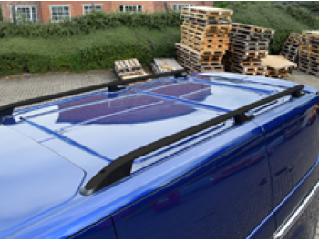 Ford Transit MK8 Aluminium Black Roof Styling Bars 2014-2019>