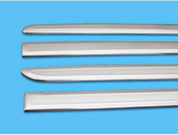 VW Caddy SWB 2015> Polished Stainless Steel Side Streamer Set