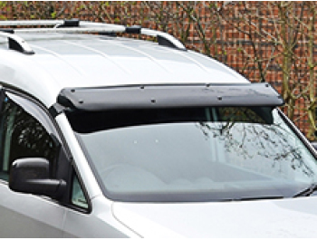 Black Acrylic High Impact Sun Visor - VW Caddy & Maxi