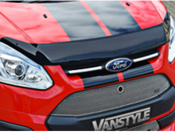 Ford Transit Custom 2012-18 Black Acrylic Bonnet Wind Deflector