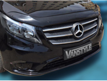 Mercedes Vito W447 2014> Black Bonnet Wind Deflector