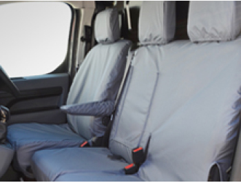 Grey Waterproof Tailored Seat Covers - Dispatch/Expert/Proace