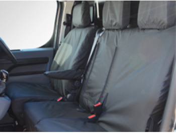 Black Waterproof Tailored Seat Covers - Dispatch/Expert/Proace
