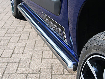 Side Bars Vanstyle 76mm Stainless - Ford Transit Custom Euro 6