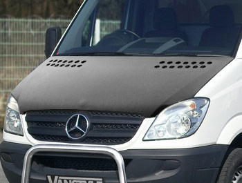 Mercedes Sprinter 2006-13 Full Length Bonnet Bra - Plain Black