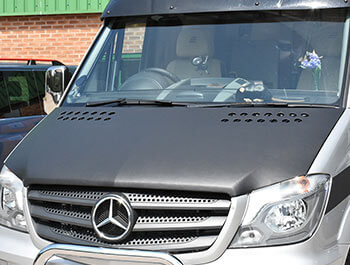 Mercedes Sprinter 2014-2018 Plain Black Full Length Bonnet Bra