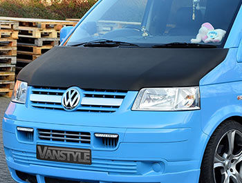 VW T5 2003-09 Full Length Bonnet Bra - Carbon Fibre Effect